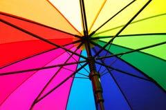 Regenbogenregenschirm Lizenzfreie Stockfotos