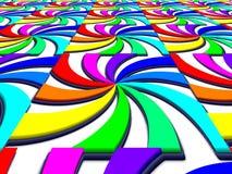 Regenbogenspektralstrudel-Perspektivenbild Stockbilder