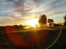 Regenbogenspektrum des aufgehende Sonne Lizenzfreies Stockbild