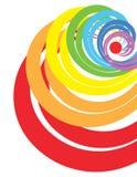 Regenbogenspirale stock abbildung