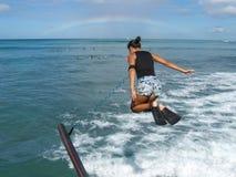 Regenbogensprung lizenzfreie stockfotografie