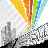 Regenbogenstadtvektor Stockbilder