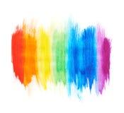 Regenbogensteigung gemacht mit Farbenanschlägen Stockbild
