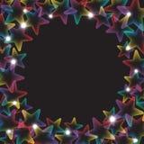 Regenbogensterne mit Lichtern Stockfoto