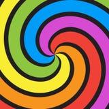 Regenbogenstrudelhintergrund Lizenzfreie Stockfotos