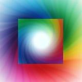 Regenbogenstrudelhintergrund Stockbild