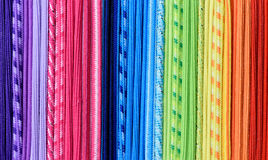 Regenbogenthreadbeschaffenheit, abstrakter bunter Hintergrund Lizenzfreie Stockbilder