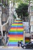 Regenbogentreppe in Istanbul, im April 2014 Lizenzfreies Stockbild