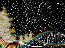 Regenbogenweihnachten lizenzfreie abbildung