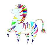 Regenbogenzebra Lizenzfreies Stockfoto
