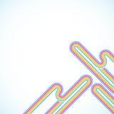 Regenbogenzeilen Stockfotos