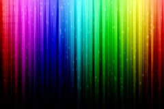 Regenbogenzusammenfassung mit weißem Regen Lizenzfreie Stockfotos