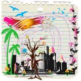 Regenboog 2 van de stad Stock Foto's