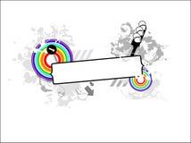 Regenboog backround met plaats voor uw tekst Stock Fotografie