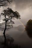 Regenboog bij Derwent Water Engeland Royalty-vrije Stock Afbeelding