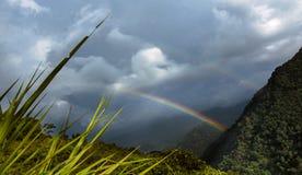 Regenboog bij monutains van Sikkim Stock Foto's