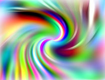 Regenboog cirkellijnen, abstracte achtergrond Royalty-vrije Stock Afbeeldingen