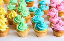 Regenboog cupcakes Royalty-vrije Stock Afbeeldingen