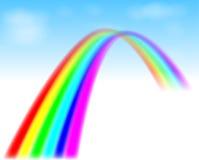 Regenboog in de blauwe hemel stock illustratie