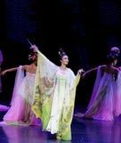 Regenboog de dans-tweede handeling: een feest in de van het paleis-heldendicht de Zijdeprinses ` dansdrama ` stock afbeelding