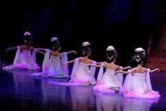Regenboog de dans-tweede handeling: een feest in de van het paleis-heldendicht de Zijdeprinses ` dansdrama ` stock foto