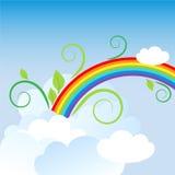 Regenboog in de hemel royalty-vrije illustratie