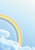 Regenboog in de wolken Stock Foto