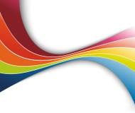Regenboog die abstracte golf verfrist Royalty-vrije Stock Foto's