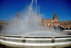 Regenboog in een fonkelende fontein Royalty-vrije Stock Foto