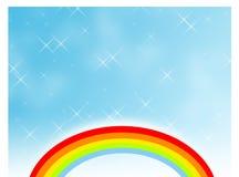 Regenboog in een fonkelende hemel stock illustratie