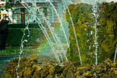 Regenboog en fontein Royalty-vrije Stock Foto