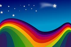 Regenboog en sterren Stock Foto's