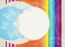 Regenboog en vlinders Stock Afbeelding