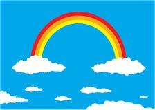 Regenboog en Wolken Royalty-vrije Stock Foto