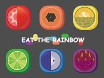Regenboog fruit-2 Royalty-vrije Illustratie