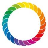 Regenboog gekleurde achtergrond en kleurrijke ruimte Royalty-vrije Stock Foto's