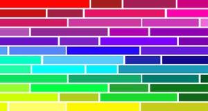 Regenboog gekleurde bars op witte achtergrond - Eenvoudig behang vector illustratie