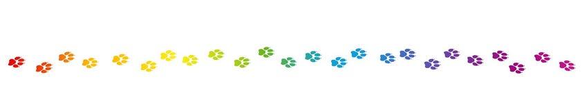 Regenboog Gekleurde Hondsporen vector illustratie
