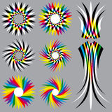 Regenboog Gekleurde Voorwerpen Stock Fotografie