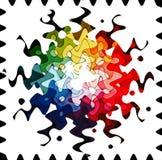 Regenboog in golven Stock Afbeeldingen