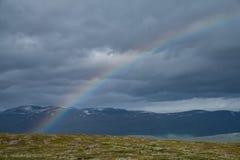 Regenboog in het Noorden Stock Foto