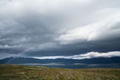 Regenboog in het Noorden Royalty-vrije Stock Afbeelding