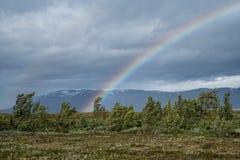 Regenboog in het Noorden Royalty-vrije Stock Afbeeldingen
