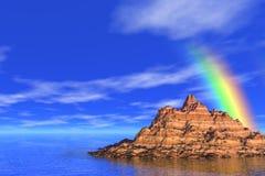 Regenboog in het overzees Royalty-vrije Stock Foto