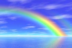 Regenboog in het overzees vector illustratie