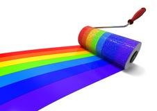 Regenboog het schilderen concept Stock Afbeeldingen
