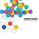 Regenboog hexagon vectorachtergrond royalty-vrije illustratie