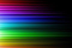 Regenboog horizontale golf Stock Afbeelding