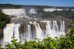 Regenboog in Iguazu-waterval Argentinië/Zuid-Amerika stock foto