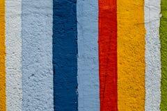 Regenboog kleurrijke bakstenen muur Stock Afbeeldingen